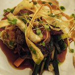 Venison with roasted veg