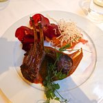 Colorado Rack of Lamb with Mole Negro and Vegetables