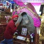 Guru Nanak Dev ji's physical form in this Mammoth Rock at Gurdwara Pathhar Sahib