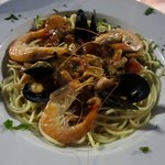 The seafood pasta