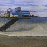 a mine dredger model