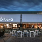 Olivers at night, great atmosphere, food and service