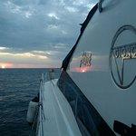 Un tramonto con l'imbarcazione Giorgi 45