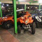 Car and bike and quad bikes for hire near the Wishing Well