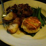 filet and crab cake