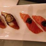 nigiri: salmon & eel