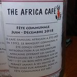 Foto de The Africa Cafe' Restaurant