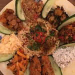 Meze platter, perfect dinner for one