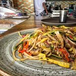 Spaghetti with sautéed vegetables - The best in the city