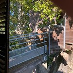 The Robinson Crusoe Suite's tree house (has day beds with a view of the gardens)