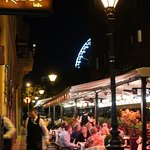 When dining outside, you will miss the music. Pretty however.