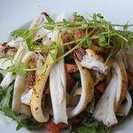 Squid dish with polenta