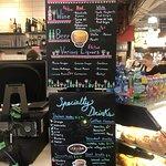 The menu at the little restaurant part. YUM!