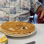 Huge pancakes and great.