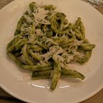 Homemade pesto pasta