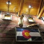All American decor at Saltgrass Steakhouse (04/Oct/18).