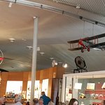 The McGinness Restaurant is connected to the museum with the model airplaines that thy overhead.