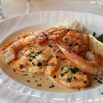 Salmon with shrimp