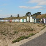 Beach Huts, already and waiting for the fun to begin...