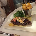 surf and turf - steak and lobster - delicious