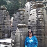 my wife at Jageshwar Temple