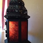 the lantern on our table