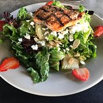 Salmon & Goat Cheese Salad.