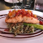 Salmon with Quina Cake