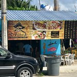 El Pirata Jr in original Akumal. Drive around until you find it.