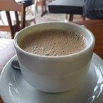 Cafezinho, sorvete e cappuccino excepcionais.