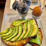 Avocado toasts with egg