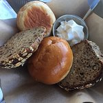 Delicious Bread Basket and Wonderful Miso-Glazed Salmon