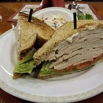This was my Turkey Sandwich on Whole Grain with the side of Coleslaw. As you can see it's big!