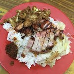 Pork and rice for 6.50 ringgit