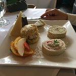 A separate order of sandwiches, scones and desserts