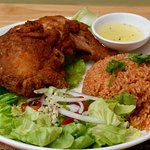 Spicy Fried Chicken with Tomato Fried rice
