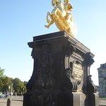 Goldener Reiter statue
