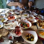 Turkish traditional breakfast. It was very fresh & delicious
