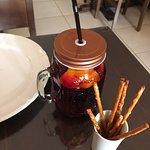 Amazing sangria in a Russian restaurant I'm pretty sure it has vodka in it