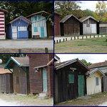 les cabanes et l'aire de pique nique