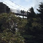 The swinging bridge over the gorge is not for the faint of heart or those with a fear of heights