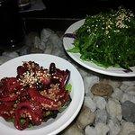 Baby Octopus & Seaweed Salad..