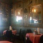 Really nice rustic interior.