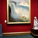 Painting of Niagara Falls from the American side.