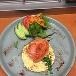 Salmon scrambled eggs