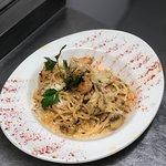 Spaghetti Fungi E Pollo