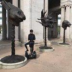 Circle of Animals sculpture installation at Civic Center; Dozen giant symbols of Chinese zodiac