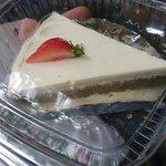 Matcha and strawberry cake