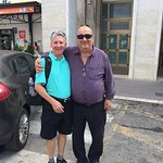 Bernardo & I @ the train station in Cassino