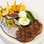 Surf&Turf N.Y. Strip with Butterfly Shrimp